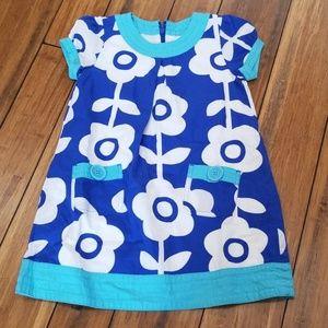 Mini Boden retro floral print dress